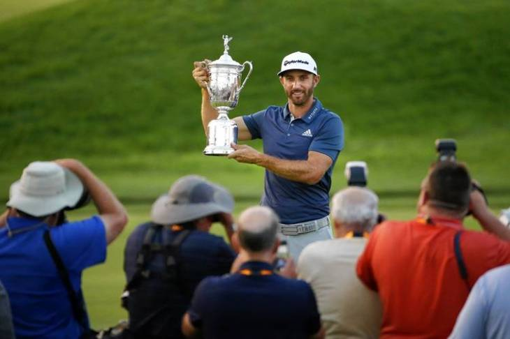 Dustin Johnson wins US Open despite the golf gods being clearly against him.