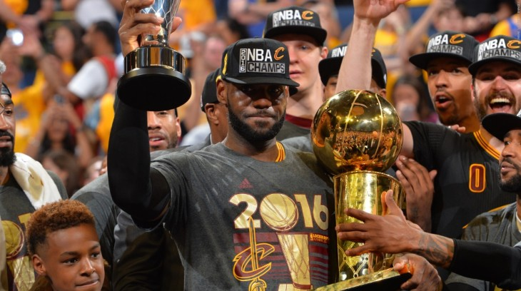 From one underdog to another: LeBron James finally wins a championship for Cleveland.
